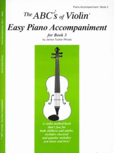 The ABC's of Cello - Easy Piano Acompaniment for Book 3
