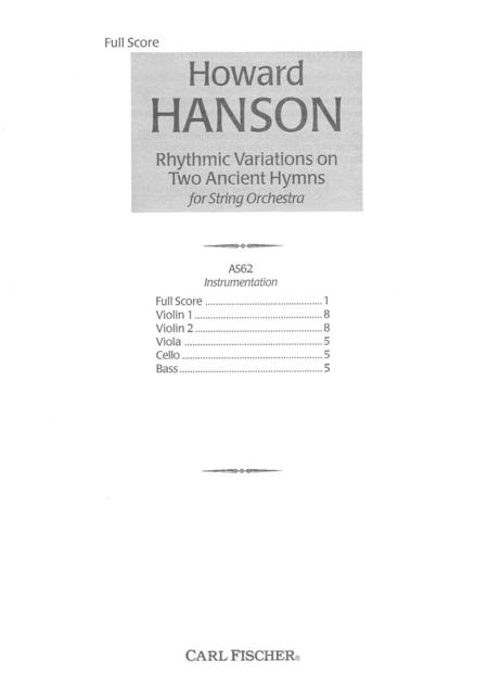 Rhythmic Variations on Two Ancient Hymns