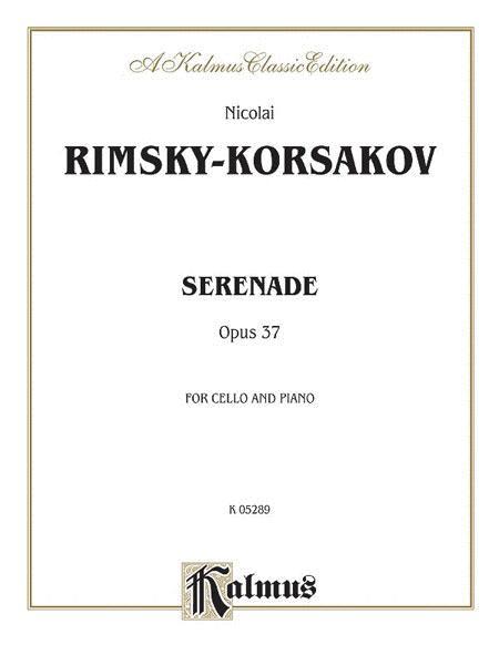 Serenade Op. 37 - Cello And Piano