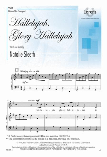 Hallelujah, Glory Hallelujah Sheet Music By Natalie Sleeth - Sheet ...