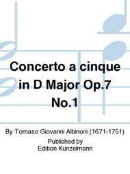 Concerto a cinque in D Major Op. 7 No. 1