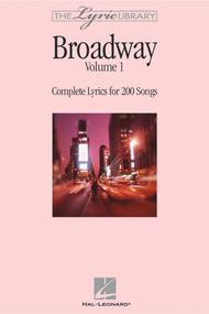 The Lyric Library - Broadway Volume I