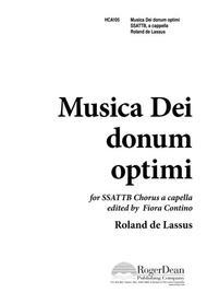 Musica Dei Donum Optimi