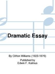 Sample Narrative Essay High School Dramatic Essay Click To Enlarge Sample Business Essay also Example Of An Essay With A Thesis Statement Dramatic Essay Sheet Music By Clifton Williams  Sheet Music Plus Sample High School Admission Essays