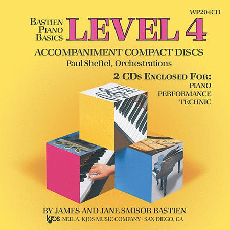 Bastien Piano Basics, Level 4, Piano/Performance/Technic (Accompaniment CDs)
