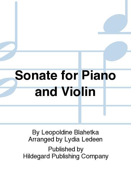 Sonate For Piano And Violin