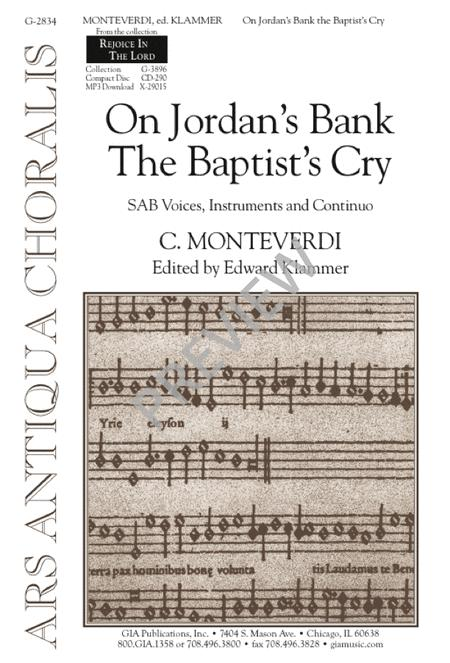 On Jordan's Bank the Baptist's Cry