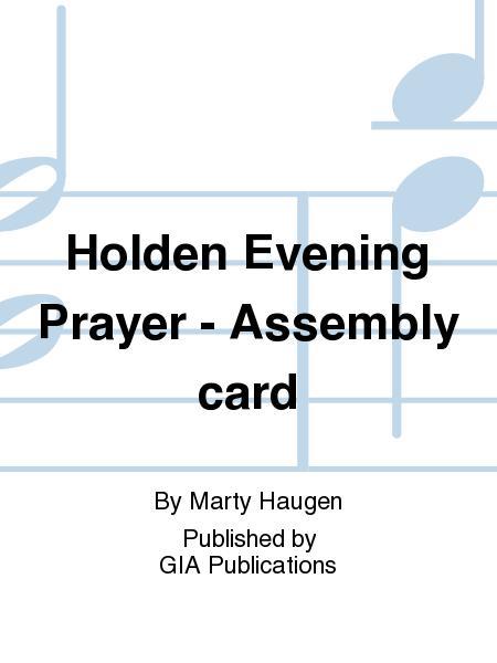 Holden Evening Prayer - Assembly card