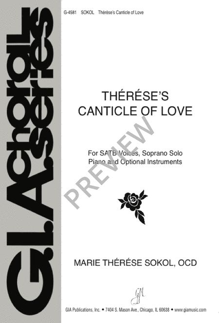 Therese's Canticle of Love - SATB edition