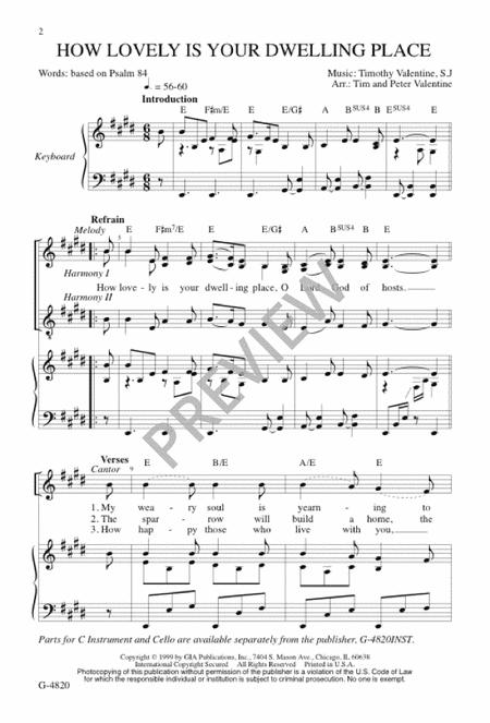 How Lovely Is Your Dwelling Place Sheet Music By Timothy Valentine ...