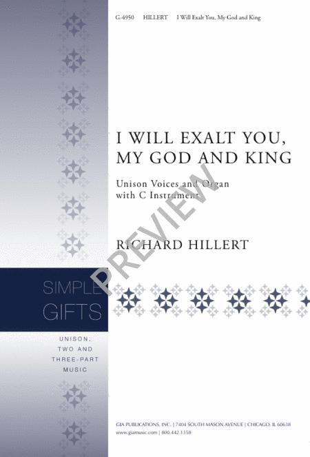 I Will Exalt You, My God and King