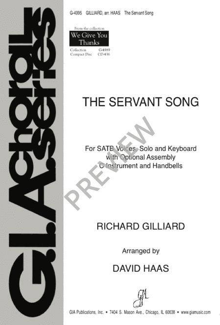 The Servant Song Sheet Music By Richard Gilliard / David Haas ...