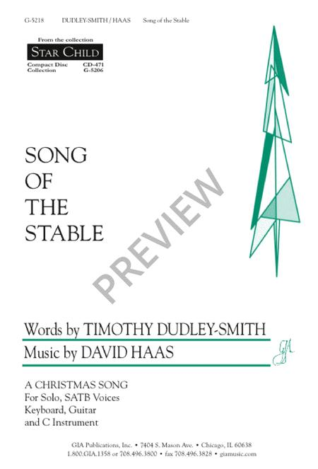 Song Of The Stable Sheet Music By David Haas Sheet Music Plus