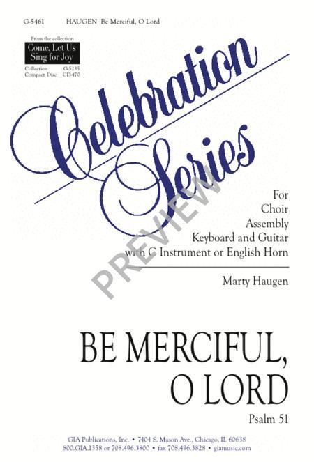 Be Merciful, O Lord