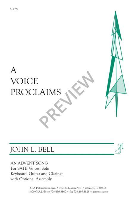 A Voice Proclaims