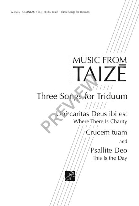 Three Songs for Triduum
