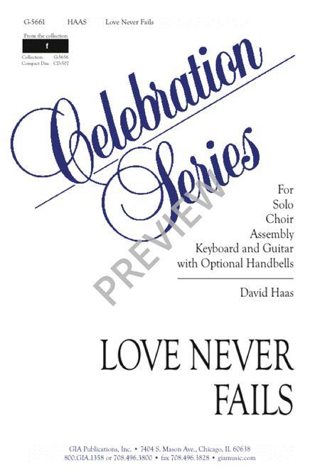 Love Never Fails Sheet Music By David Haas Sheet Music Plus