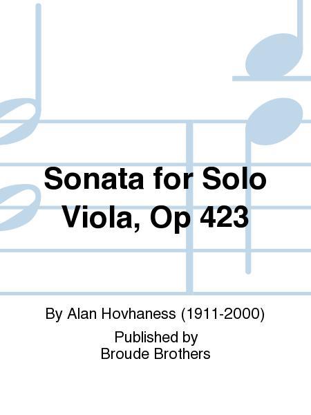 Sonata for Solo Viola, Op. 423