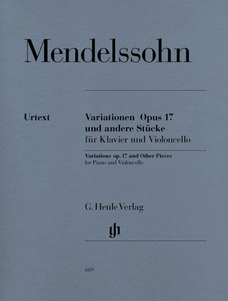 Variations and Other Pieces for Piano and Violoncello op. 17