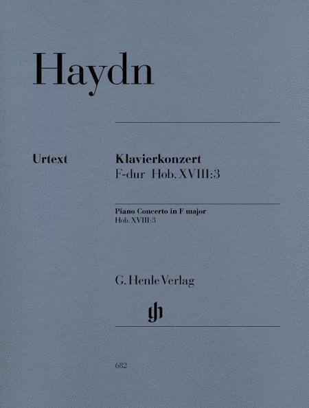 Concerto for Piano (Harpsichord) and Orchestra inF major Hob. XVIII:3