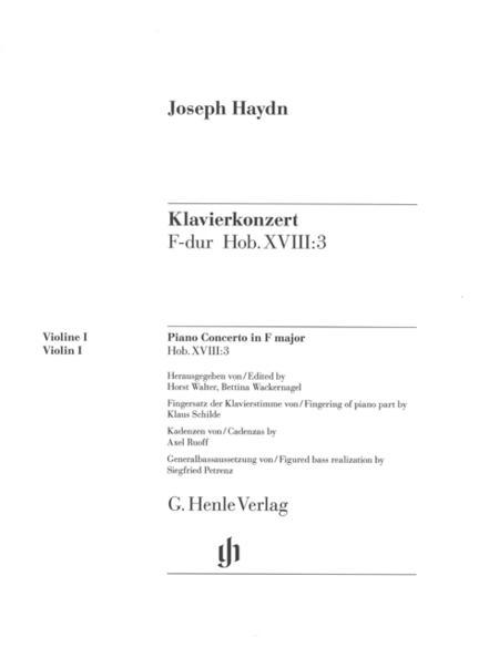 Concerto for Piano (Harpsichord) and Orchestra in F major Hob. XVIII:3