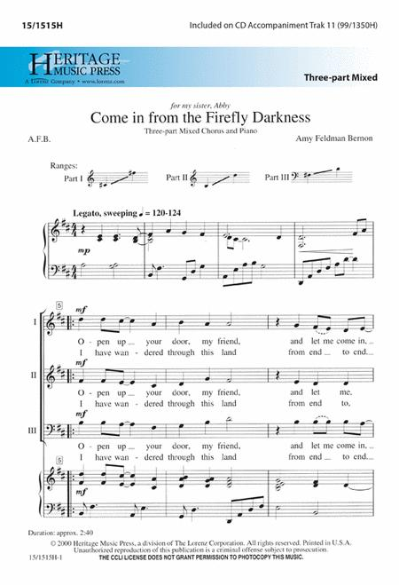 Come in from the Firefly Darkness