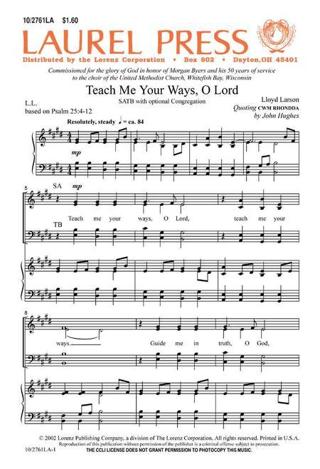 Teach Me Your Ways, O Lord