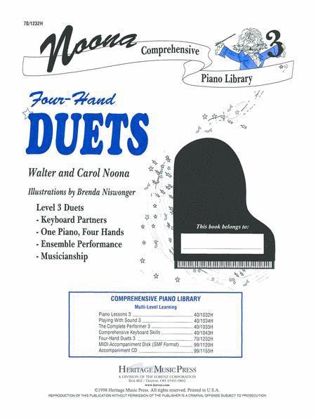 Noona Comprehensive Piano Four Hand Duet Level 3