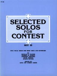 Selected Solos for Contest, Set II - High Voice