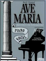 Ave Maria * Piano Vocal Edition * Bach - Gounod