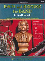 Bach and Before For Band - Piano Accompaniment