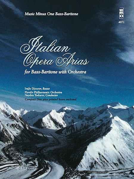 Italian Opera Arias For Bass-Baritone With Orchestra