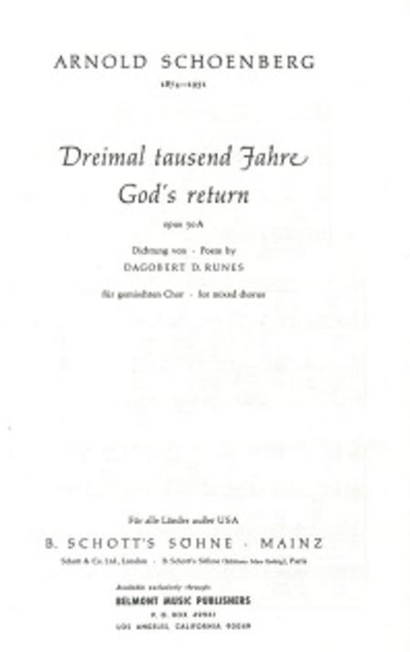 Dreimal tausend Jahre, Op. 50a
