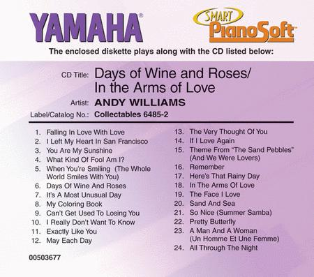Andy Williams - Days of Wine and Roses/In the Arms of Love - Piano Software