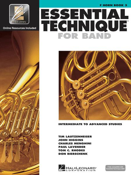 Essential Technique for Band - Intermediate to Advanced Studies (French Horn)