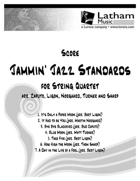 Jammin' Jazz Standards for String Quartet - Score