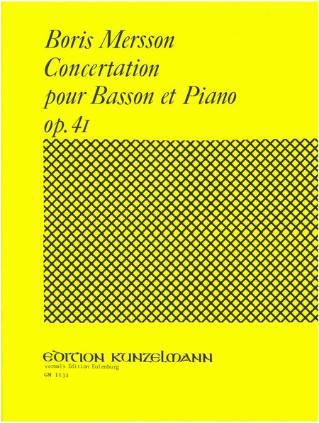 Concertation in B Major for Bassoon and Piano