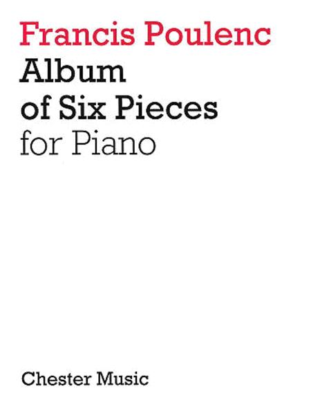 Album of Six Pieces for Piano