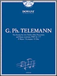 Telemann: Trio Sonata in F Major for 2 Treble (Alto) Recorders and Basso Continuo TWV42:F7