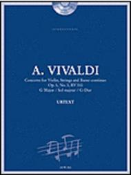 Vivaldi: Concerto for Violin, Strings and Basso Continuo in G Major, Op. 3, No. 3, RV 310