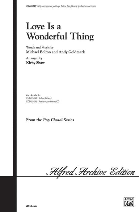 Love Is A Wonderful Thing - SATB