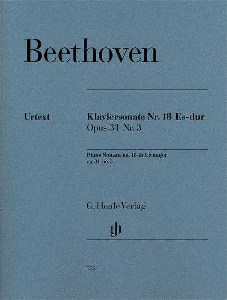 Piano Sonata No. 18 in E Flat Major Op. 31