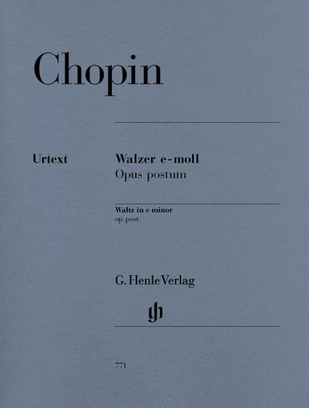 Waltz e minor op. post.