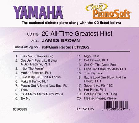 James Brown - 20 All-Time Greatest Hits! - Piano Software