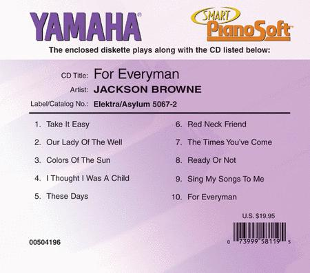 Jackson Browne - For Everyman - Piano Software