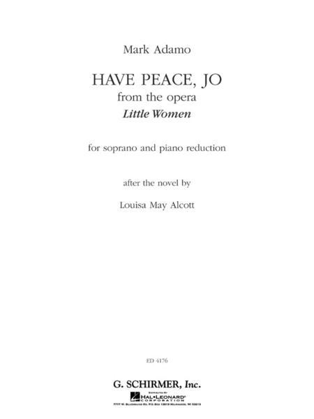 Have Peace, Jo (from the Opera Little Women)