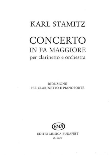 Concerto In Fa Maggiore Per Clarinetto E Orchest