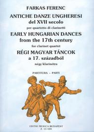 Early Hungarian Dances from the 17th Century for Four Clarinets