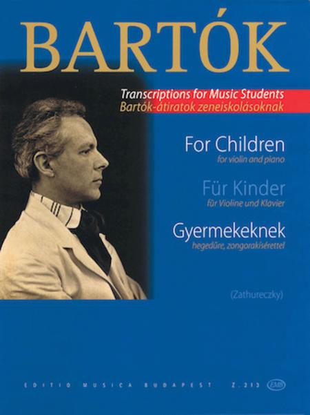 Bartok - Transcriptions for Music Students: For Children