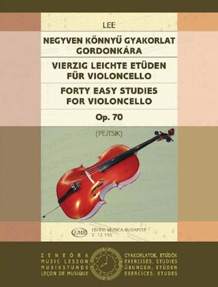 40 Easy Studies for Violoncello in the First Position, Op. 70